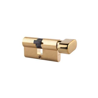 Wkładka bębenkowa z gałką ARES (LOB) mosiądz