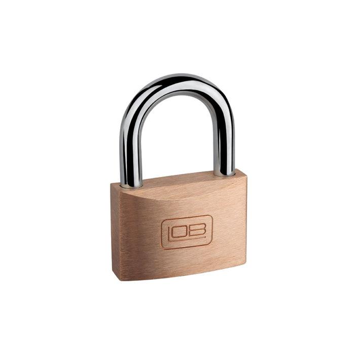 Kłódka mosiężna zatrzaskowa System jednego klucza LOB (KM40,50,60)