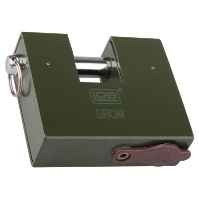 Kłódka zasuwkowa System jednego klucza atestowana GROM KT611