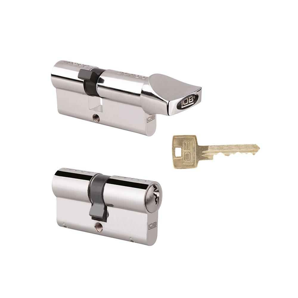 Komplety wkładek LOB DUO bębenkowych HEKTOR kl. B nikiel 6 kluczy