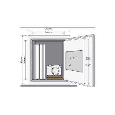 YFM/420/FG2/B – Dokumentowy sejf ognioodporny XL