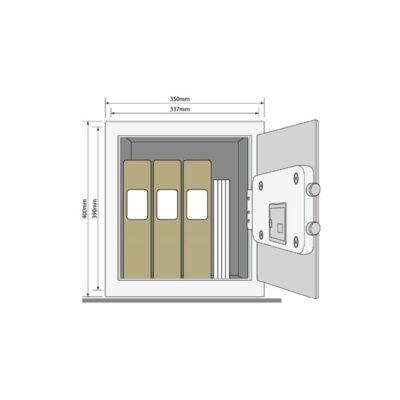 YSM/400/EG1 – Wzmocniony sejf biurowy