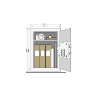 YSM/520/EG1 – Wzmocniony sejf profesjonalny