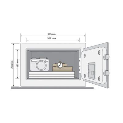 YSG/200/DB1 – Sejf podstawowy Guest kompaktowy